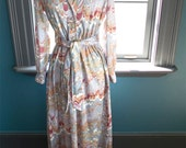Vintage MAXI DRESS with groovy abstract MOD print