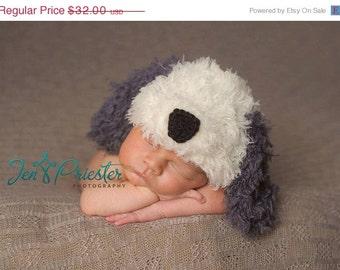 sheep dog hat...  puppy hat.. newborn hat.. photo prop..photograpy prop..Newborn photo prop..25% off at checkout with code SEPT1