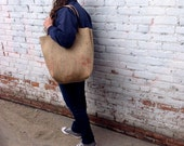 Simple Tote / Farmers Market Tote  / Coffee Sack Tote / Upcycled Market Bag / Recycled Grocery Tote / Farmers Market Bag