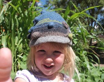 SALE - Kid-o Bubble Cap - Super Soft Merino Felt Kid Hat - Just a Little Bit Silly - Hipster Baby