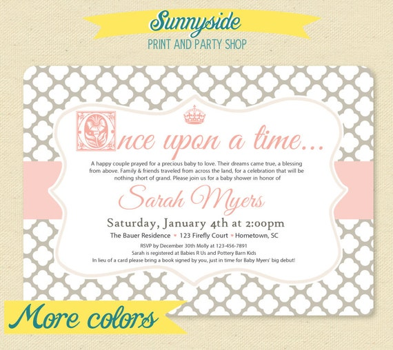 Items Similar To Fairytale Storybook Baby Shower Invite