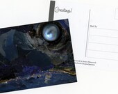"SET OF 3 POSTCARDS: Collage Art ""Mystic"" by Pearljammies Paper Ephemera"