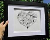 Personalized Memory Illustrations 8 x 10