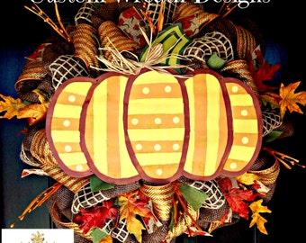 Fall Pumpkin Deluxe Wreath