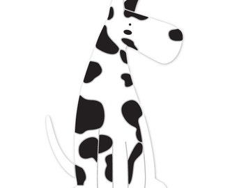 Great Dane Dog Wall Stencil for Painting Kids or Baby Room Mural  (SKU306-istencil)