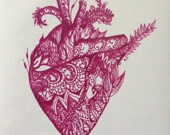 Card - Henna Heart (Set of 6)