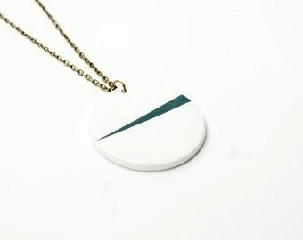 Minimalist ceramic necklace pendant, Necklace ceramic jewelry, Ceramics & pottery, Geometric Ceramic jewellery, Ceramic necklace women