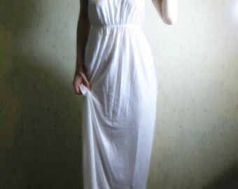 20% OFF VALENTINE'S SALE - awake - pure white organic cotton bamboo strapless hippie boho maxi dress sundress small