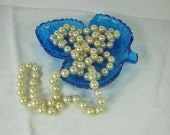 Vintage PEARL NECKLACE Flapper Long Faux Pearls Beads Costume