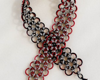 Power and Passion Black and Red Choker Collar D/s - Reversible - Ready To Ship