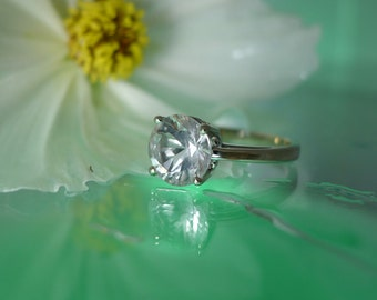 Herkimer Diamond 14K White Gold Ring
