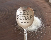 HEY SUGAR Spoon by For Such A Time. Adorable Sugar Spoon. Perfect Hostess Gift. Unique kitchen gadgets and gifts. Gifts under 25.