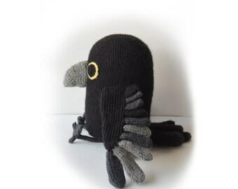 Raven Crochet Pattern, Amigurumi Raven Pattern, Bird Crochet Pattern, Crow Crochet Pattern, Amigurumi Crow Pattern, Bird Amigurumi Pattern