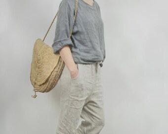 LINEN KIMONO SHIRT / blouse