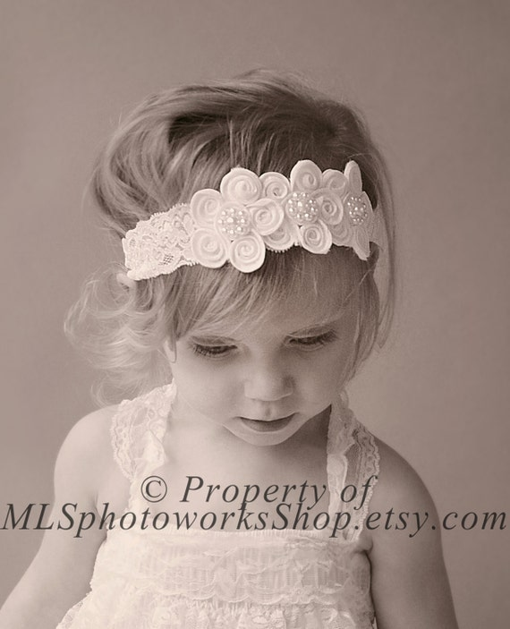 step hair style items similar to vintage scalloped lace flower headband 8995
