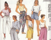 Easy Pants & Shorts Pattern McCalls 5255 Size 10 12 Uncut