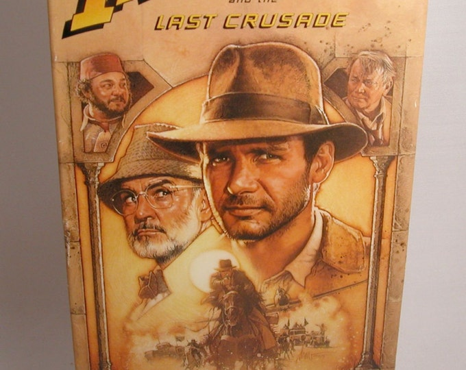 Indiana Jones and The Last Crusade Vintage VHS Tape - 1989 - Harrison Ford - VCR - Movie - Adventure - Sean Connery - Denholm Elliott