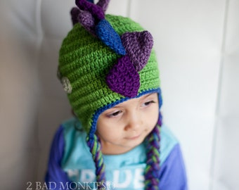 Dinosaur Hat -Toddler boy hat, Baby boy hat - Girl Dinosaur Hat - Toddler boy Halloween costume, Dinosaur costume, Winter hat