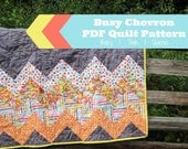 EASY PDF PATTERN - Baby | Twin | Queen - Busy Chevron design