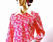 Retro Mod Dress Emilio Borghese 1960s Maxi Hostess