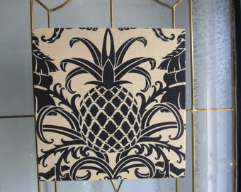 Tommy Bahama  Pineapple fabric on canvas