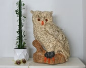 RESERVED Large Mid Century Ceramic Owl Lamp 21'' Atlantic Mold Company