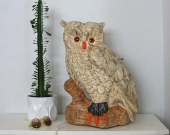 Large Mid Century Ceramic Owl Lamp 21'' Atlantic Mold Company