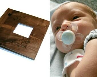 "Baby Scrapbook  Album -  Cut Out  Wood Book 12"" x 12"""