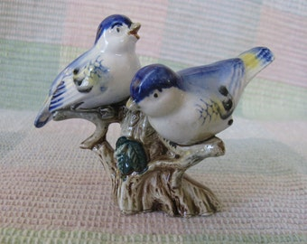 Vintage Porcelain Bluebird Figurine