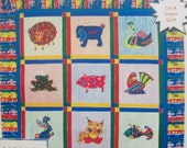 Vintage Quilt Pattern Texas Quiltery Pattern Crayon Applique Crystals Farm Animal Crayon Quilt