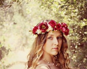 SALE!! Anastasia - romantic rose flower crown, wedding, wedding hair accessories, bohemian wedding headpiece, Coachella flower crown