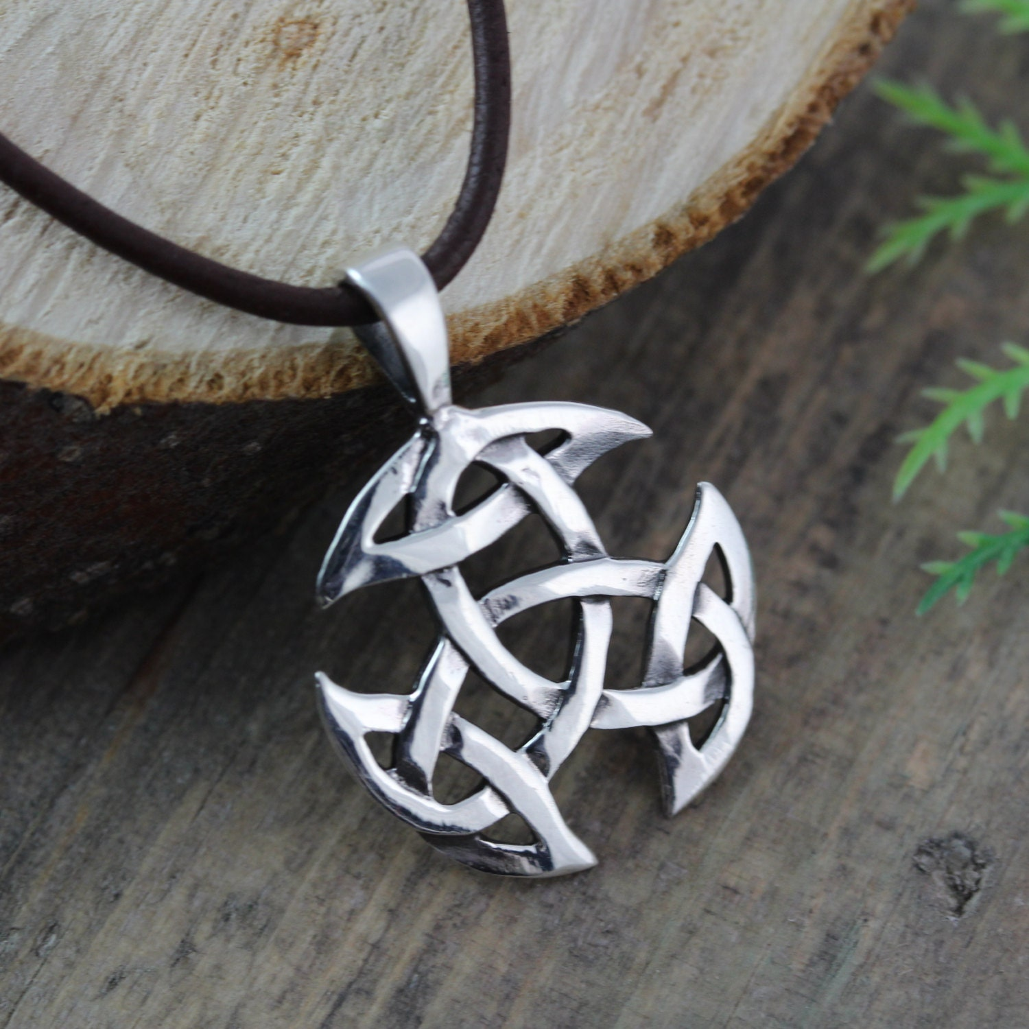Sterling Silver Celtic Knot Necklace For Men Mens Jewelry