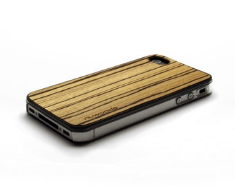 iPhone 4 Case Wood Zebrawood, Wood iPhone 4S Case Wood iPhone 4 Case, iPhone 4 Wood Case, iPhone 4S Wood Case, iPhone Case