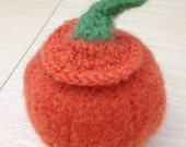 Tiny Felted Pumpkin
