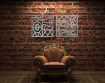 """Metal Wall Art, Art, Decor, Abstract, Contemporary, Modern, Sculpture, Metal Art, """"Pacific 2"""" - Aluminum Sculpture"""