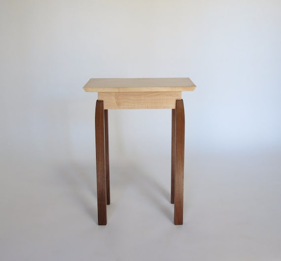Narrow end table small wood table rectangular shape for Short narrow end tables