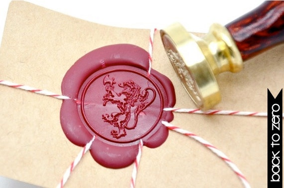 Stamp Heraldic Lion Crest
