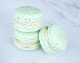 Cookie Wedding Favors French Macaron Cookies 12 Green Tea Macaroons Gift Splendid Sweet