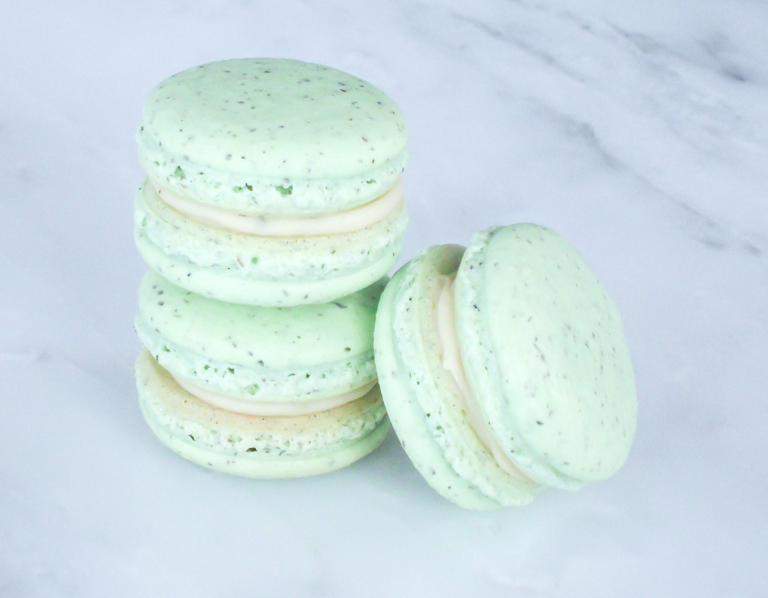 French Wedding Gifts: Cookie Wedding Favors French Macaron Cookies 12 Green Tea