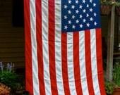 Vintage 50 Star American Flag, Large, Antique American Flag, USA
