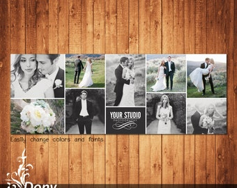 Wedding Facebook timeline cover template photo collage - Photoshop Template Instant Download - BUY 1 GET 1 FREE: fc311
