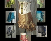45 COLORS AVAILABLE - Made-To-Order Mini Length Hi-Lo Hem Skirt