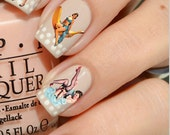 Nail Decals: Vintage Pinup Girls Water Nail Decals 44 per purchase