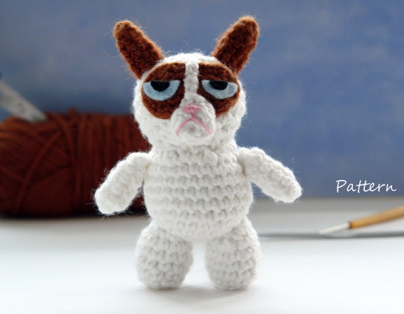 Grumpy Cat Amigurumi Pattern Free : Grumpy Cat CROCHET toy PATTERN / Grumpy Cat amigurumi pattern