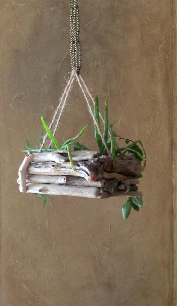 Driftwood Hanging Planter Rectangular Hanging Planter