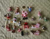 Lot of vintage Christmas kitschy trinkets