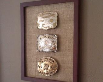 Cowboy/Cowgirl Western Belt Buckle Display Frame