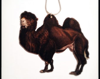 Very Rare Wild Bactrian Camel Illustration Pendant Necklace