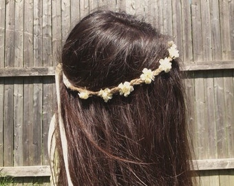 Simple Off-White Flower Crown