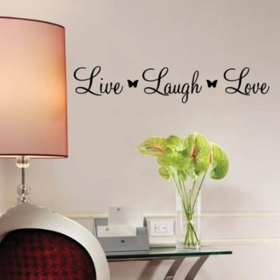 live laugh love quote living room vinyl wall art decal
